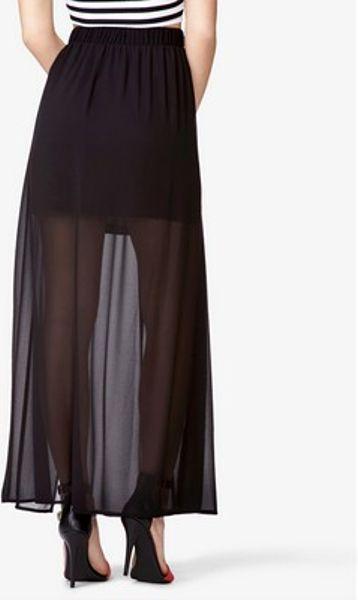 Forever 21 Semisheer Maxi Skirt in Black