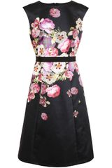 Giambattista Valli Floral Printed Silk Twill Dress - Lyst