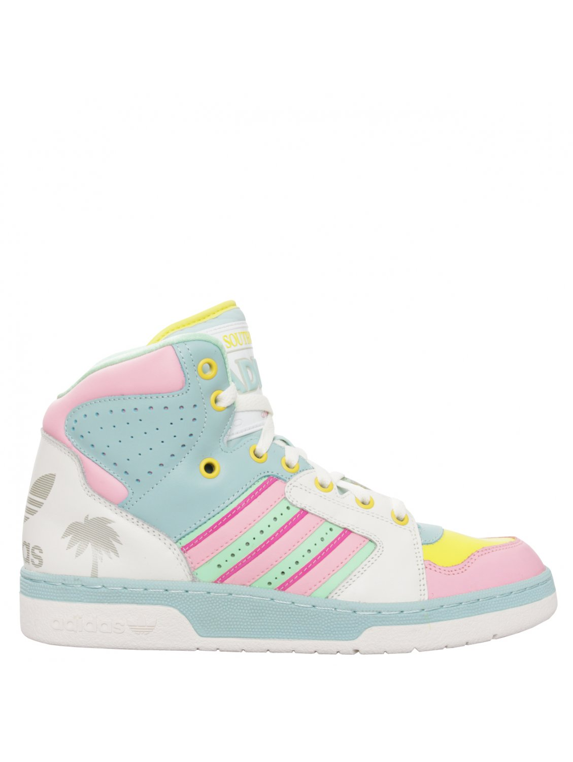 660c6cd4598d Jeremy Scott for adidas License Plate Miami High Top Trainers in ...