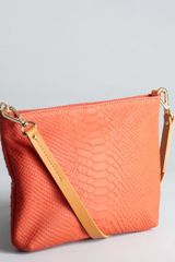 Kelsi Dagger Poppy Snake Embossed Leather Hendrix Zip Crossbody Bag - Lyst