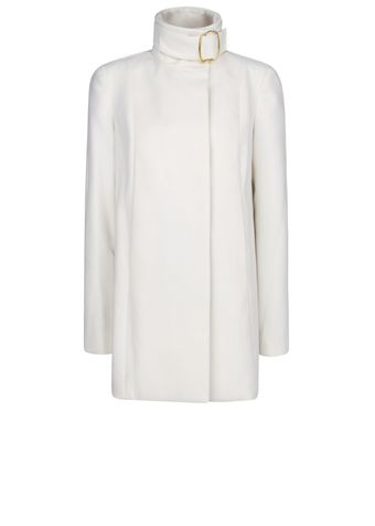 Mango Funnel Neck Coat - Lyst