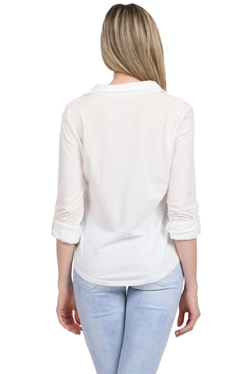 White Blouse Fitted 72
