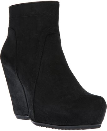 Rick Owens Zipup Wedge Boot - Lyst