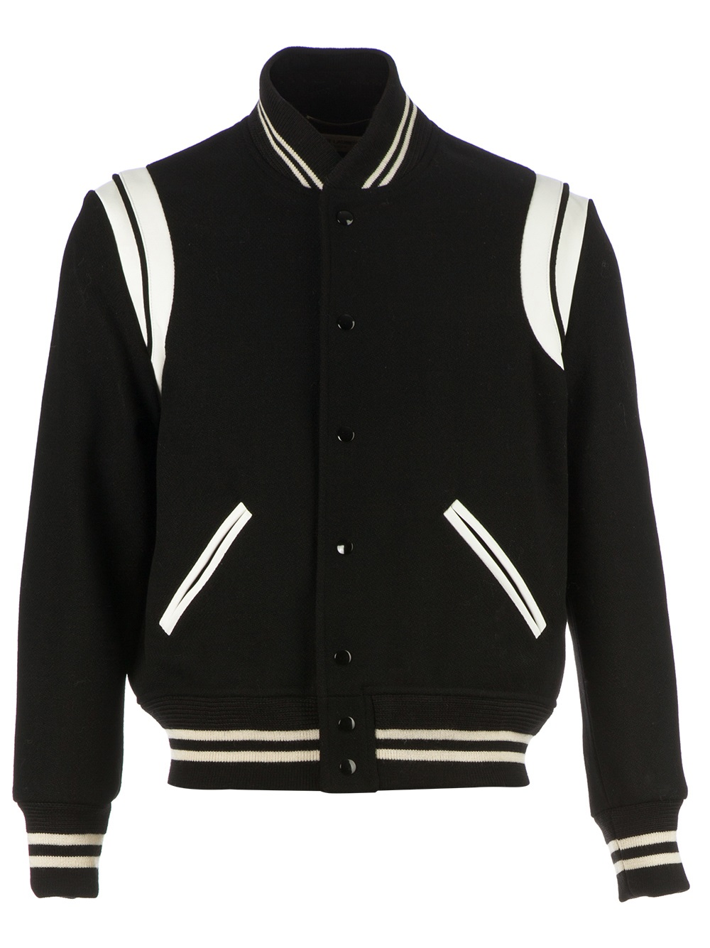 Black White Bomber Jacket