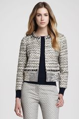 Tory Burch Vanessa Mix fabric Beaded Jacket - Lyst