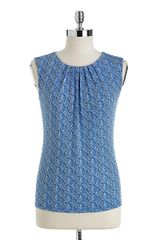 Calvin Klein Arrow Print Pleated Top - Lyst