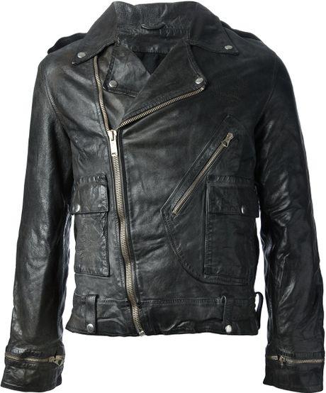 golden goose deluxe brand leather biker jacket in black for men lyst. Black Bedroom Furniture Sets. Home Design Ideas
