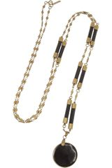 Isabel Marant Brass and Horn Necklace - Lyst