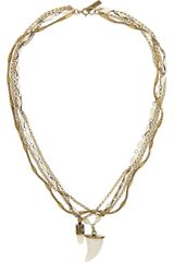 Isabel Marant Brass and Bone Necklace - Lyst