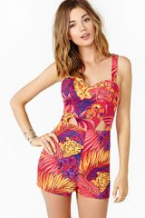 Nasty Gal Dream Tropic Romper - Lyst