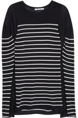 T By Alexander Wang Striped Cotton Blend Top - Lyst