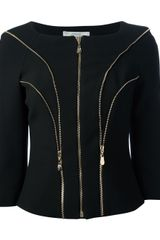 Versace Zip Detailed Jacket - Lyst
