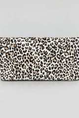 Alice + Olivia Alice Olivia Cheetah Me Calf Hair Foldover Clutch Bag Fawn - Lyst