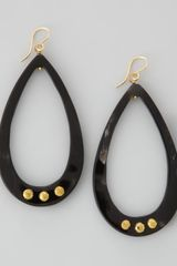Ashley Pittman Chozi Horn Teardrop Earrings Dark Horn - Lyst