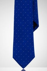 Black Label Narrow Dotted Peau De Soie Tie - Lyst