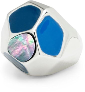 Brooks Brothers Enameled Faceted Ring - Lyst