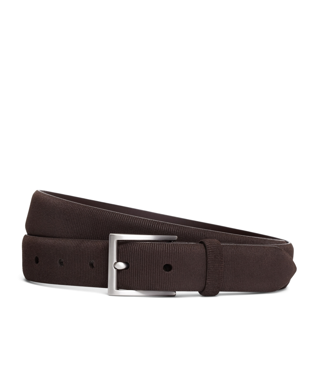 brothers micro stripe calfskin suede leather belt