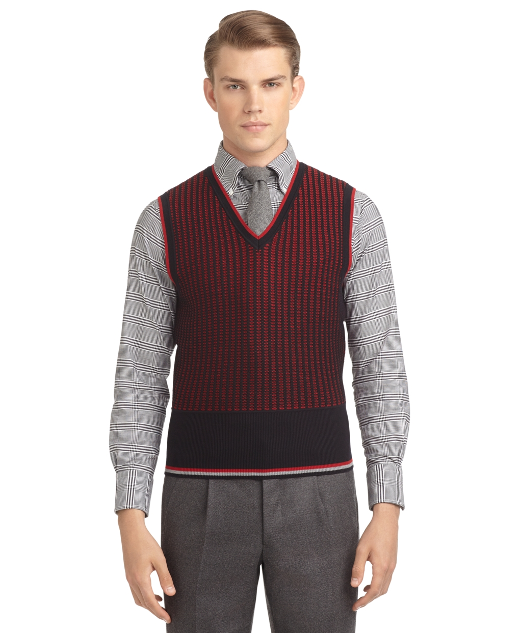 Mens Sweater Vest. Find the comfort you love in a sweater with the style of a button down when you wear a men's sweater vest. A classic fashion pair, a sweater vest and button-down shirt is a great choice for a party, office meeting, or relaxing Sunday afternoon. Bring .