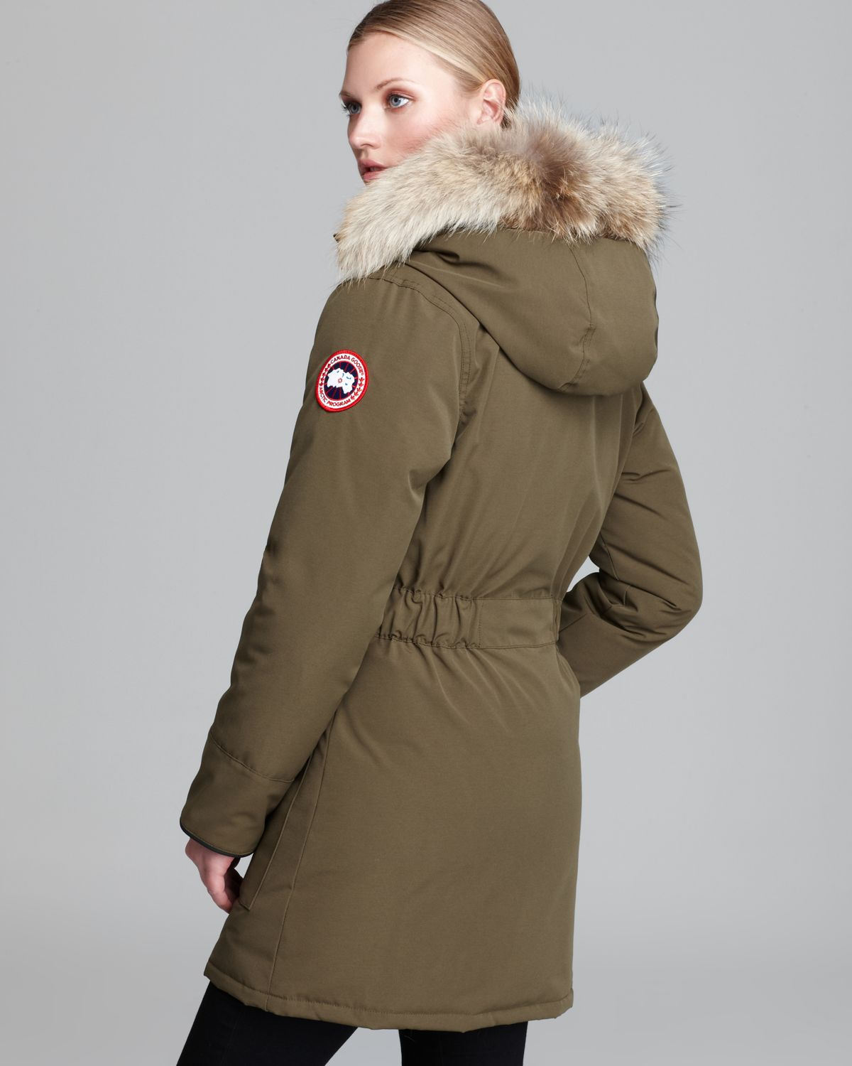 Canada Goose hats sale price - Canada goose Trillium Parka in Green (Military Green) | Lyst