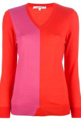 Carven Bi-colour Sweater - Lyst