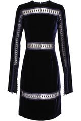 Christopher Kane Loop Detail Velvet Dress - Lyst