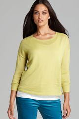 Eileen Fisher Raglan Sleeve Box Top - Lyst