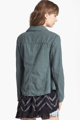 Free People Textured Linen Blend Jacket - Lyst