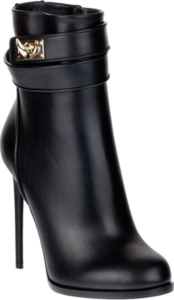 Givenchy Shark Lock High Heel Ankle Boots In Black Lyst