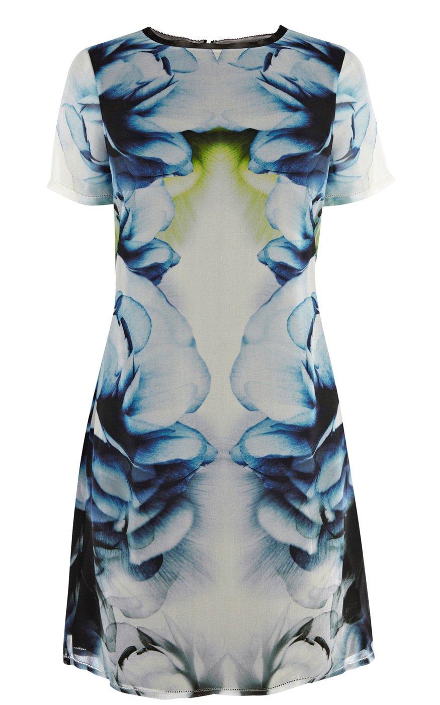 87c2b3e4763 Karen Millen Smoky Placed Print Dress - Lyst
