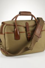 Polo Ralph Lauren Canvas Leather Commuter Bag - Lyst