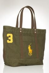 Polo Ralph Lauren Big Pony Zip Tote - Lyst