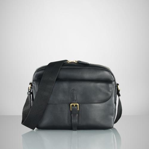 48ddc5d4bd73 ... sale lyst ralph lauren gents leather crossbody bag in black for men  97655 a409d