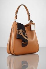 Ralph Lauren Calfskin Saddle Bag Hobo - Lyst