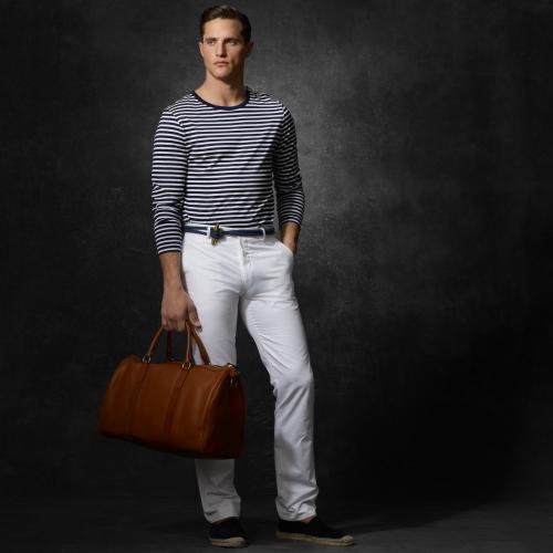 Lyst Ralph Lauren Gents Leather Duffel Bag In Brown For Men