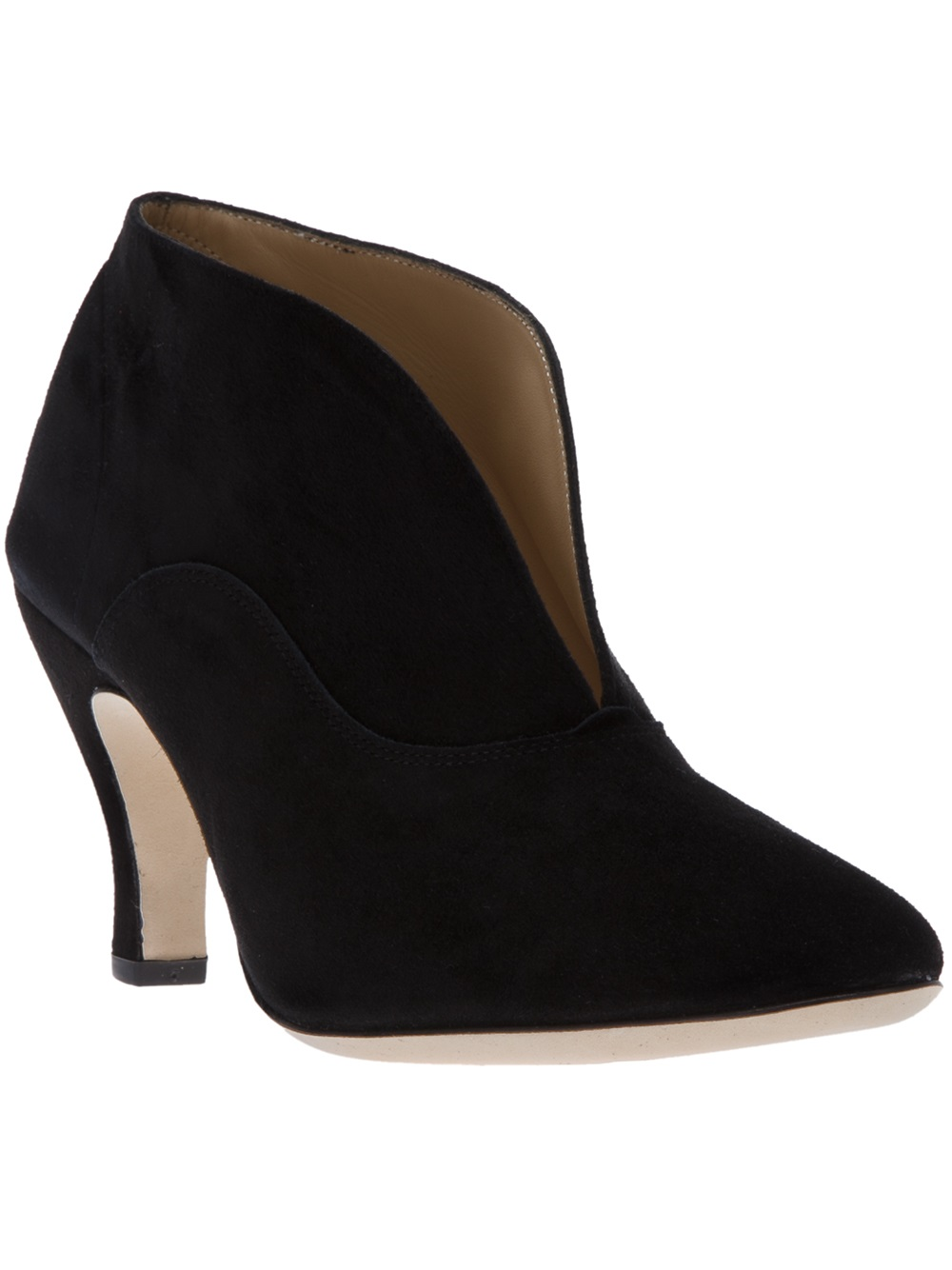 Lyst Repetto Open Front Ankle Boot In Black
