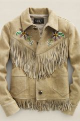 Rrl Adobe Fringed Jacket - Lyst