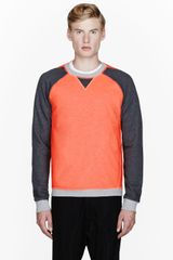 Slvr Orange Coated Cotton Sweatshirt - Lyst