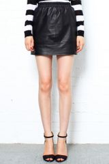 Vanessa Bruno Athé Mini Leather Skirt - Lyst
