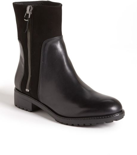 Via Spiga Eartha Boot in Black (Black Calf/ Suede) - Lyst