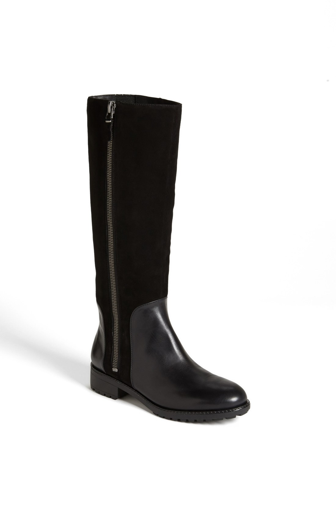 via spiga edeline boot in black black calf suede lyst