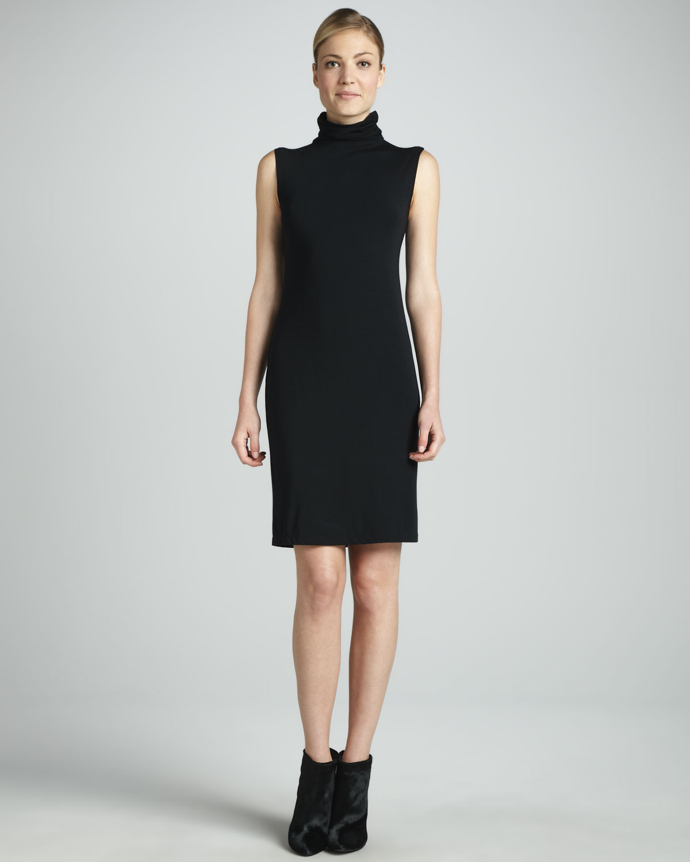 Lyst White Warren Sleeveless Knit Turtleneck Dress