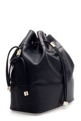 Zara Bucket Bag with Metal Detailing in Black - Lyst