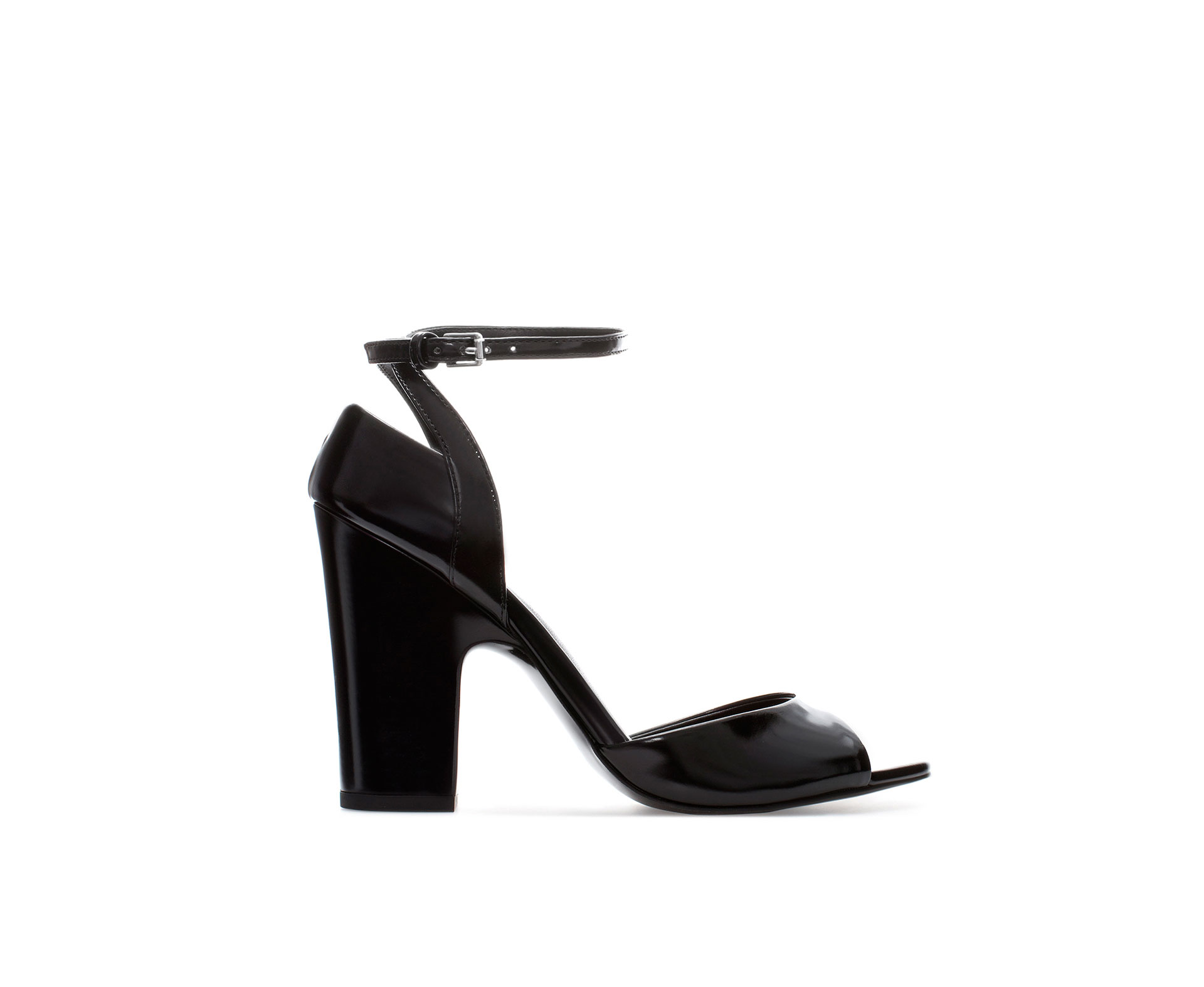 Zara High Heel Sandal with Ankle Strap in Black | Lyst