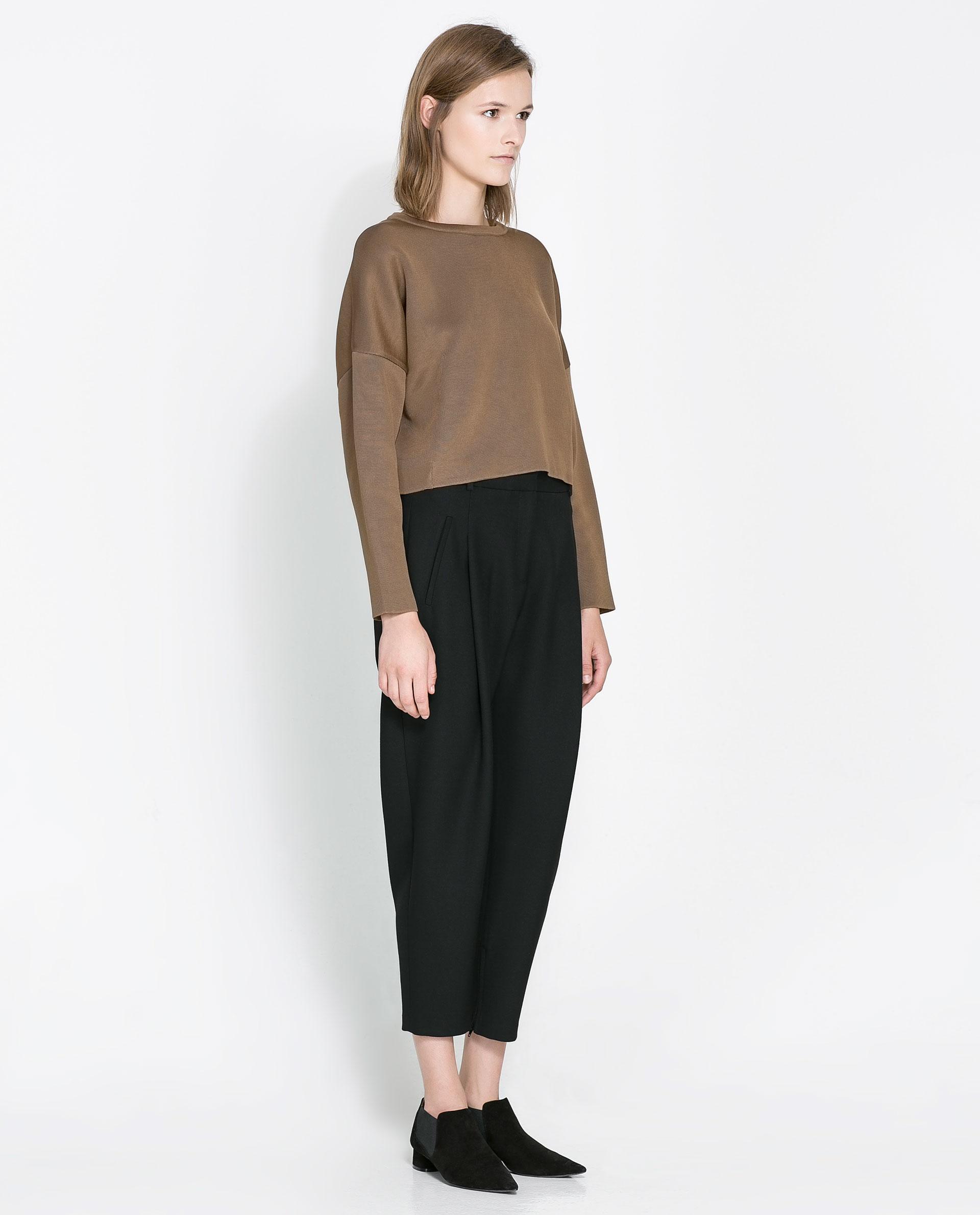 Cropped sweater zara – Voltooi leven van een vrouw