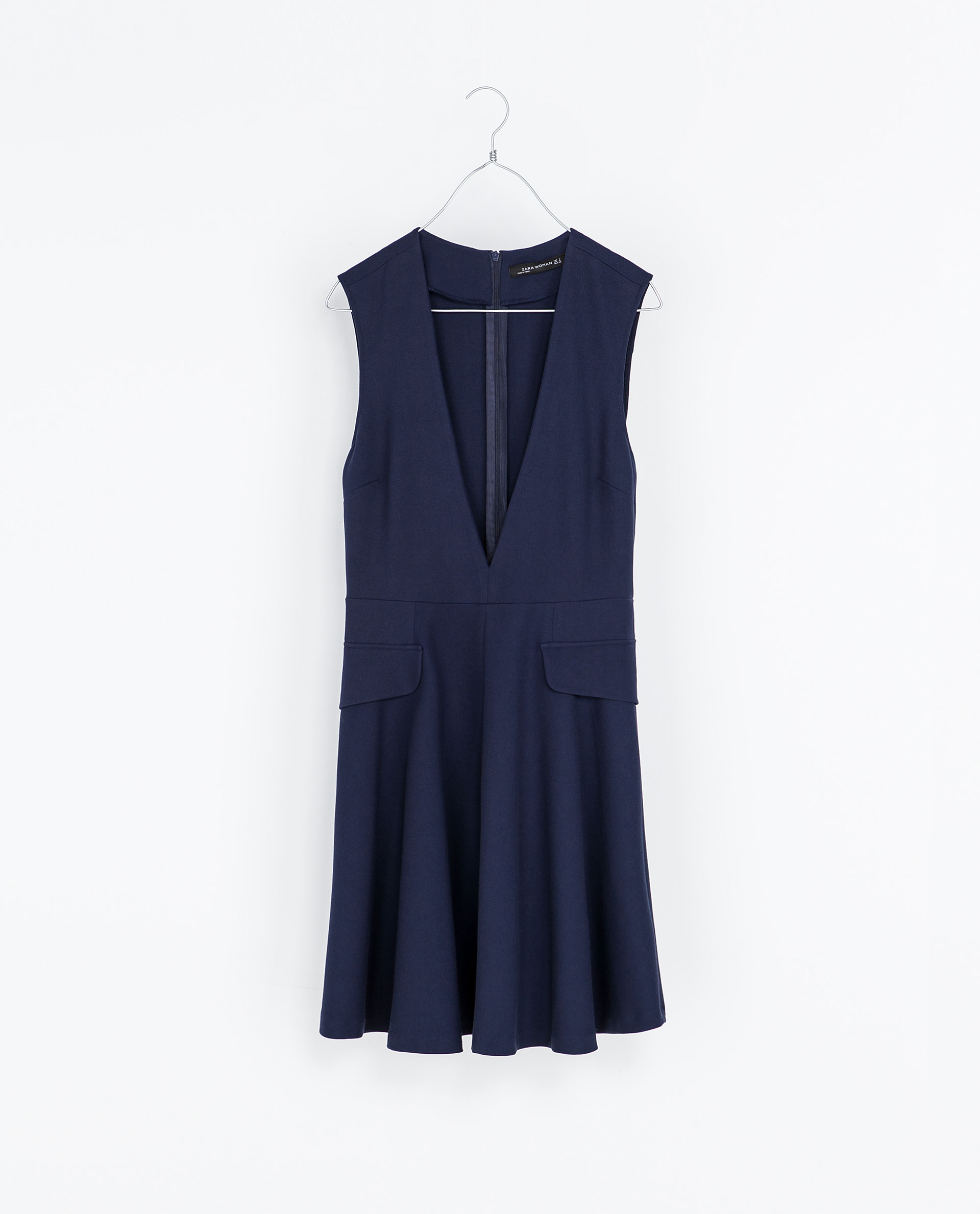 Zara Pinafore Dress In Blue Lyst