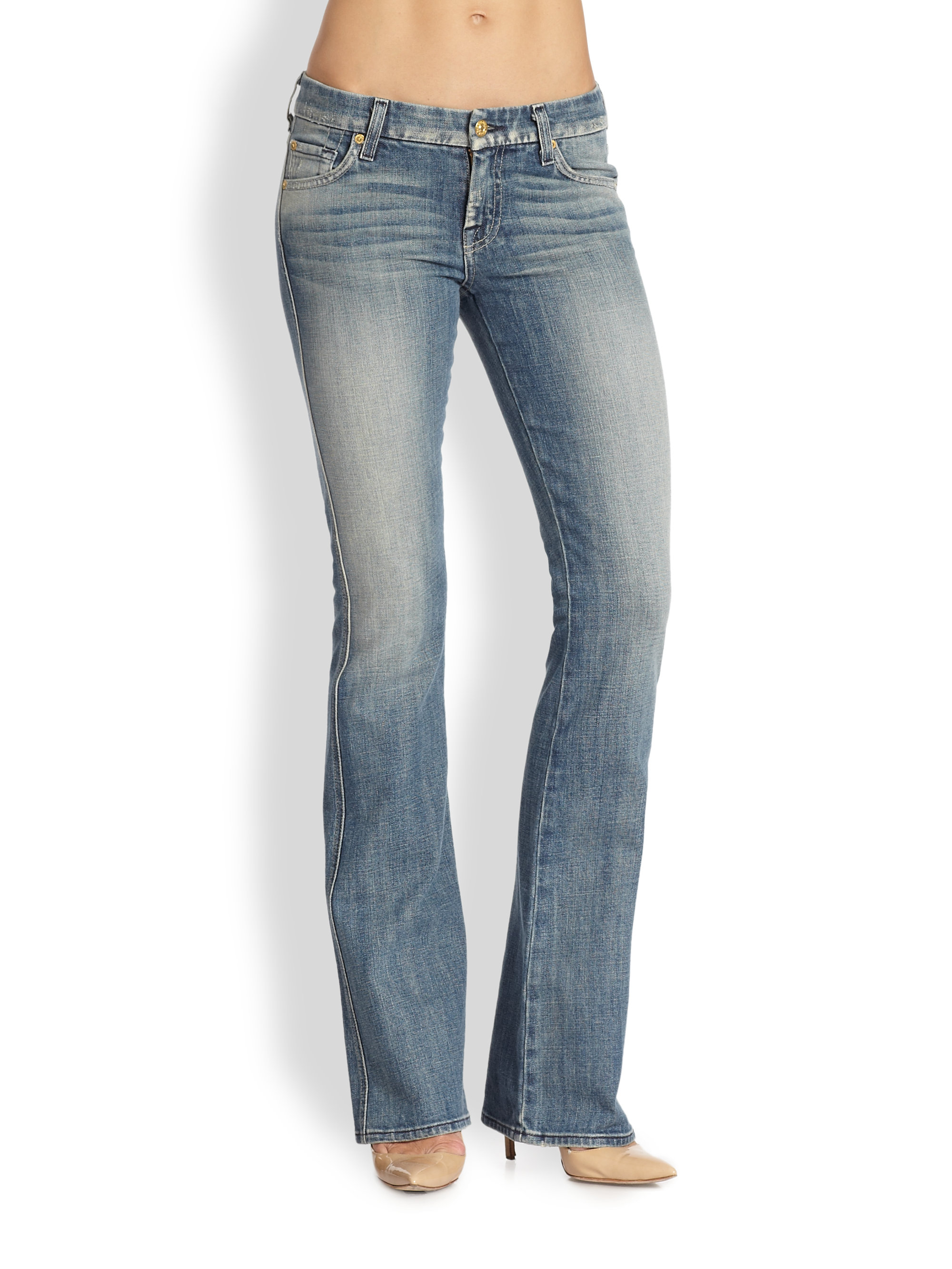 outlet for sale hottest sale arriving 7 For All Mankind Midrise Bootcut Jeans in Blue - Lyst