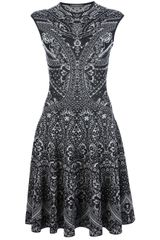 Alexander McQueen Jacquard Knit Dress - Lyst
