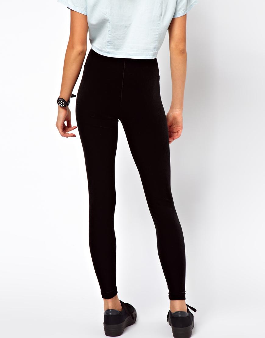8b07e4f69a7d American Apparel Velvet Legging in Black - Lyst