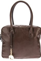 Armani Large Leather Tote - Lyst