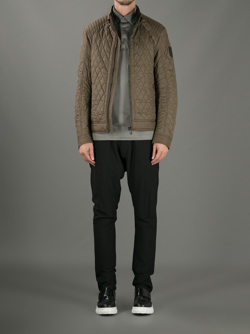 Lyst Belstaff Bramley Quilted Jacket In Brown For Men